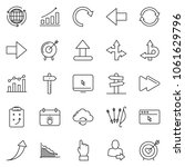 thin line icon set   around the ... | Shutterstock .eps vector #1061629796