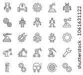 thin line icon set   wrench...   Shutterstock .eps vector #1061631122