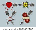 vector set of arrows.... | Shutterstock .eps vector #1061632706