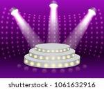 podium illuminated with rays of ... | Shutterstock .eps vector #1061632916
