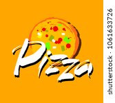 pizza hand lettering... | Shutterstock .eps vector #1061633726