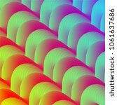 abstract wavy colorful vector... | Shutterstock .eps vector #1061637686