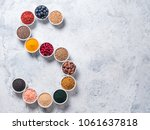 above view of various... | Shutterstock . vector #1061637818