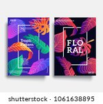 trendy floral cover templates.... | Shutterstock .eps vector #1061638895