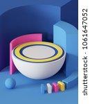 3d render  abstract geometric... | Shutterstock . vector #1061647052