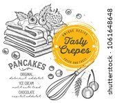 crepes restaurant menu. vector... | Shutterstock .eps vector #1061648648