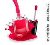 nail polish in splash. vector... | Shutterstock .eps vector #1061650172