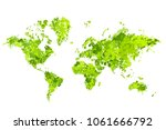 world map in the form of blots. ... | Shutterstock .eps vector #1061666792
