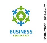 people connection logo design... | Shutterstock .eps vector #1061667695