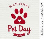 national pet day card or... | Shutterstock .eps vector #1061667722