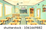 vector cartoon background with... | Shutterstock .eps vector #1061669882