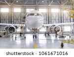 passenger aircraft on...   Shutterstock . vector #1061671016