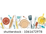 cooking pattern. background... | Shutterstock .eps vector #1061672978