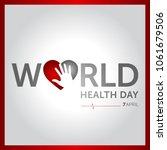 7 april world health day... | Shutterstock .eps vector #1061679506