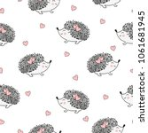 seamless pattern with cute... | Shutterstock .eps vector #1061681945