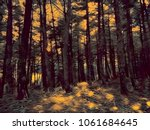 forest scene 'picture' | Shutterstock . vector #1061684645