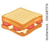 vector illustration of toast   Shutterstock .eps vector #1061687576