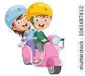 vector illustration of kid... | Shutterstock .eps vector #1061687612