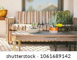 hip outdoor porch seating with... | Shutterstock . vector #1061689142