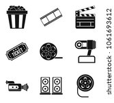 video clip icons set. simple... | Shutterstock .eps vector #1061693612