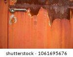Rusty Truck Door With Handle