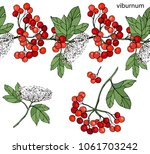 endless horizontal border with... | Shutterstock .eps vector #1061703242