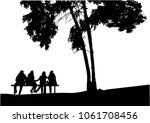 group of people in nature. | Shutterstock .eps vector #1061708456