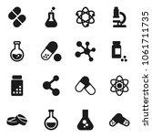 flat vector icon set   atom... | Shutterstock .eps vector #1061711735