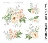 set of the floral arrangements. ... | Shutterstock .eps vector #1061716796