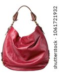 Small photo of leather slouch handbag pocketbook