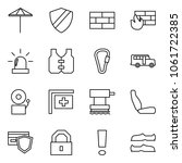 flat vector icon set   umbrella ... | Shutterstock .eps vector #1061722385