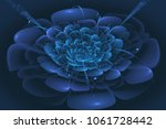 blue fractal flower.digital... | Shutterstock . vector #1061728442