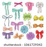 girls bow vector girlish... | Shutterstock .eps vector #1061729342