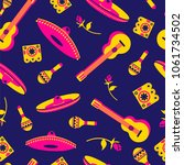 mexico seamless pattern with... | Shutterstock .eps vector #1061734502