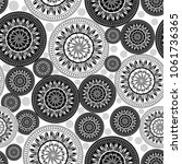 Seamless pattern background with mandalas. Vector Illustration