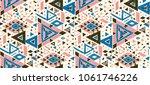 geometric folklore hipster... | Shutterstock .eps vector #1061746226