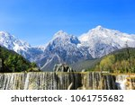 snow mountains and blue sky in...   Shutterstock . vector #1061755682