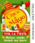 mexican cinco de mayo holiday... | Shutterstock .eps vector #1061757362