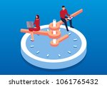 businessman working on... | Shutterstock .eps vector #1061765432
