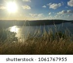 beautiful sunset in norway   Shutterstock . vector #1061767955