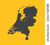 netherlands holland  black map... | Shutterstock .eps vector #1061768588