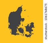 denmark black map border on... | Shutterstock .eps vector #1061768675