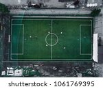 aerial view of a soccer  ... | Shutterstock . vector #1061769395