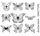 collection of butterflies on... | Shutterstock .eps vector #106177292
