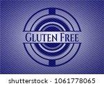 gluten free badge with denim... | Shutterstock .eps vector #1061778065