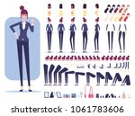 businesswoman character... | Shutterstock .eps vector #1061783606