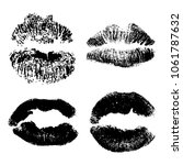 female kiss shape lips... | Shutterstock . vector #1061787632