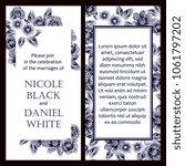 vintage delicate invitation... | Shutterstock . vector #1061797202