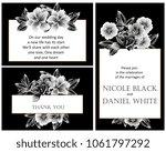 vintage delicate invitation... | Shutterstock . vector #1061797292