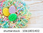 sweets for celebrate easter.... | Shutterstock . vector #1061801402